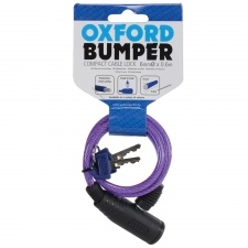 BUMPER CABLE LOCK PURPLE 6MM x 600MM