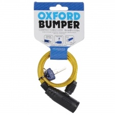 BUMPER CABLE LOCK YELLOW 6MM x 600MM