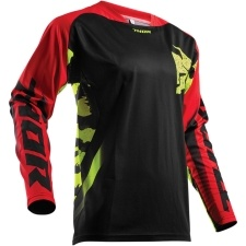 FUSE RAMPANT BLACK/RED/LIME JERSEY