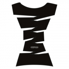JAGGED TANK PAD - BLACK