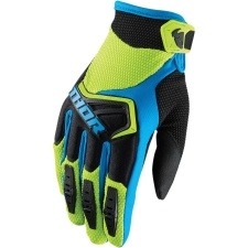 SPECTRUM GREEN/BLACK/BLUE GLOVES